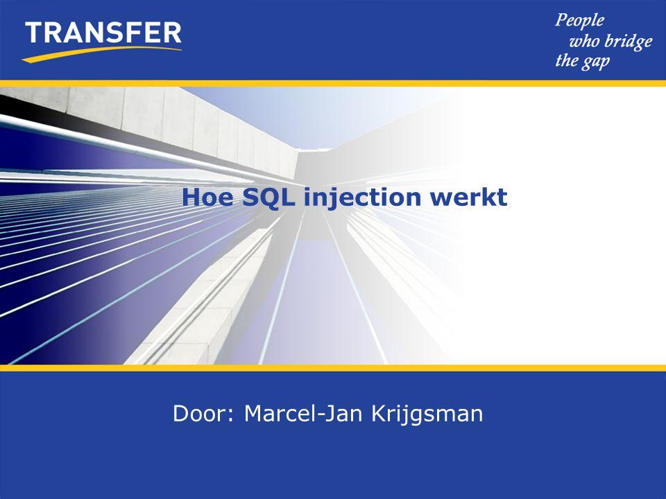 Hoe SQL injection werkt