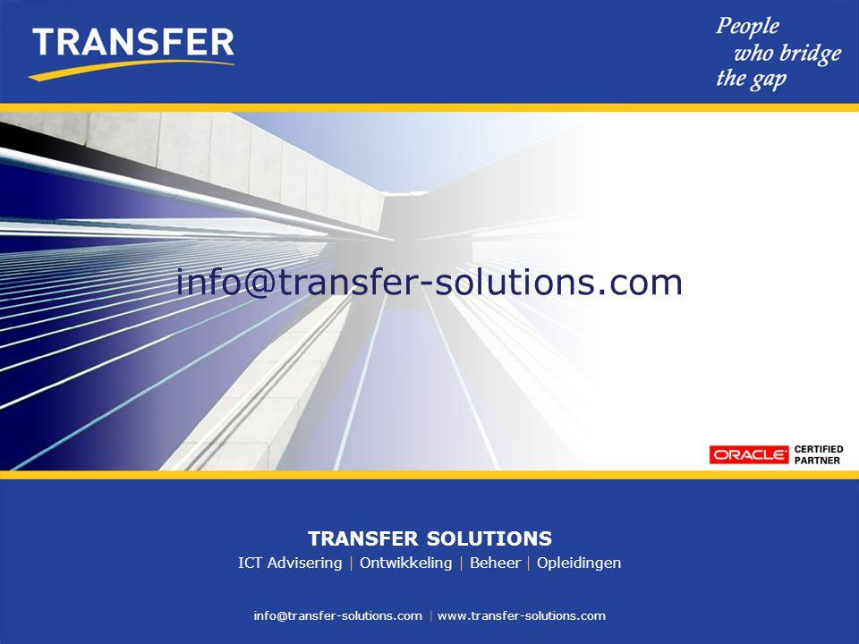 info@transfer-solutions.com TRANSFER SOLUTIONS