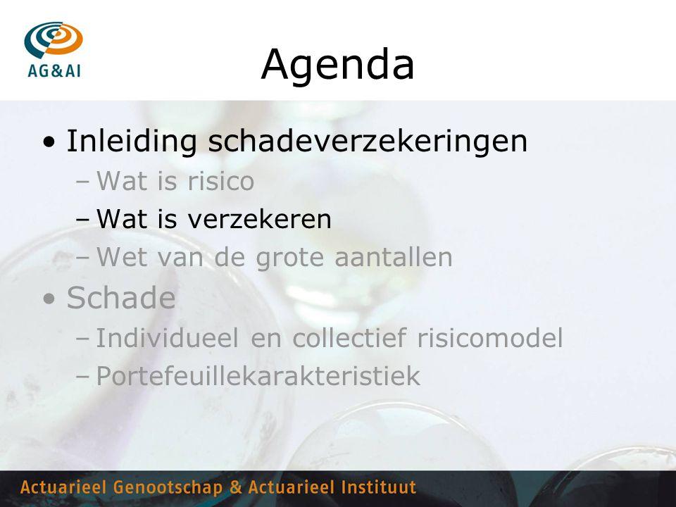 Agenda Inleiding schadeverzekeringen Schade Wat is risico