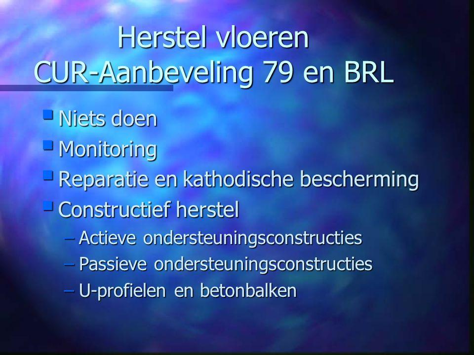 Herstel vloeren CUR-Aanbeveling 79 en BRL