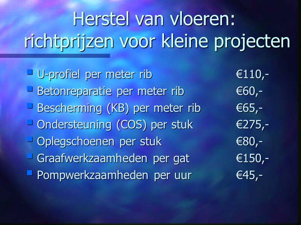 Herstel van vloeren: richtprijzen voor kleine projecten