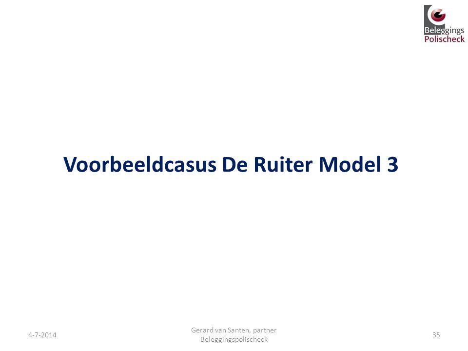 Voorbeeldcasus De Ruiter Model 3
