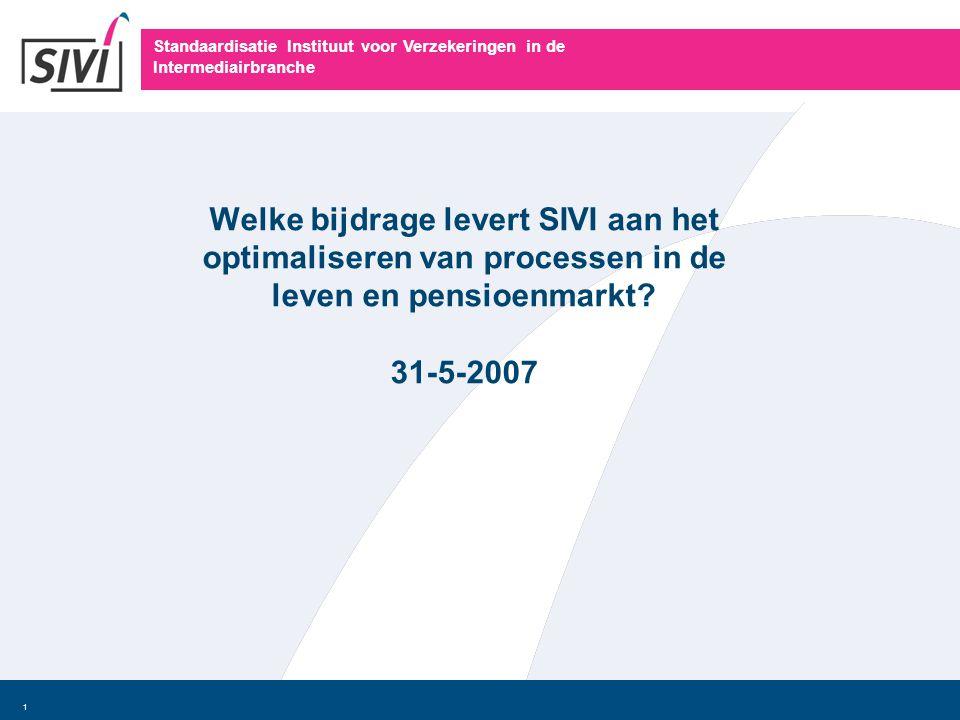 Welke bijdrage levert SIVI aan het optimaliseren van processen in de leven en pensioenmarkt.