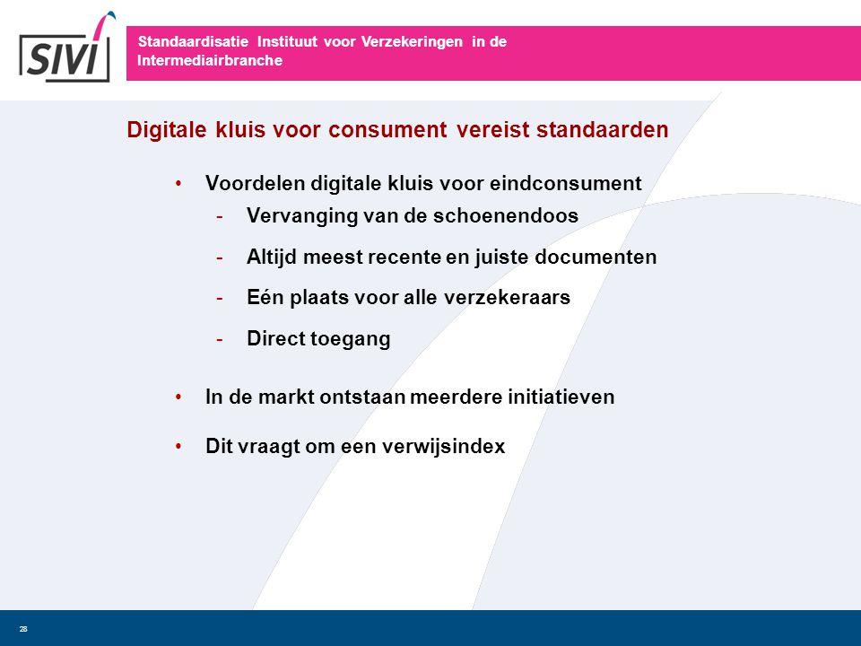 Digitale kluis voor consument vereist standaarden
