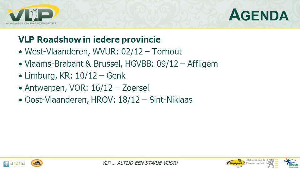 Agenda VLP Roadshow in iedere provincie