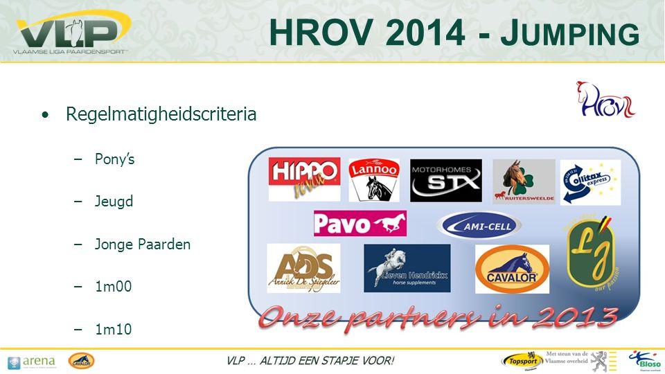 HROV 2014 - Jumping Regelmatigheidscriteria Pony's Jeugd Jonge Paarden