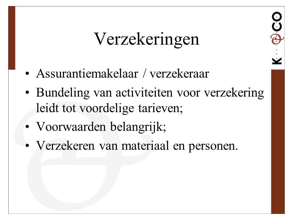 Verzekeringen Assurantiemakelaar / verzekeraar