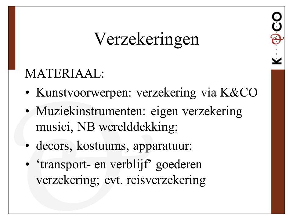 Verzekeringen MATERIAAL: Kunstvoorwerpen: verzekering via K&CO