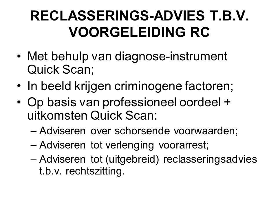 RECLASSERINGS-ADVIES T.B.V. VOORGELEIDING RC