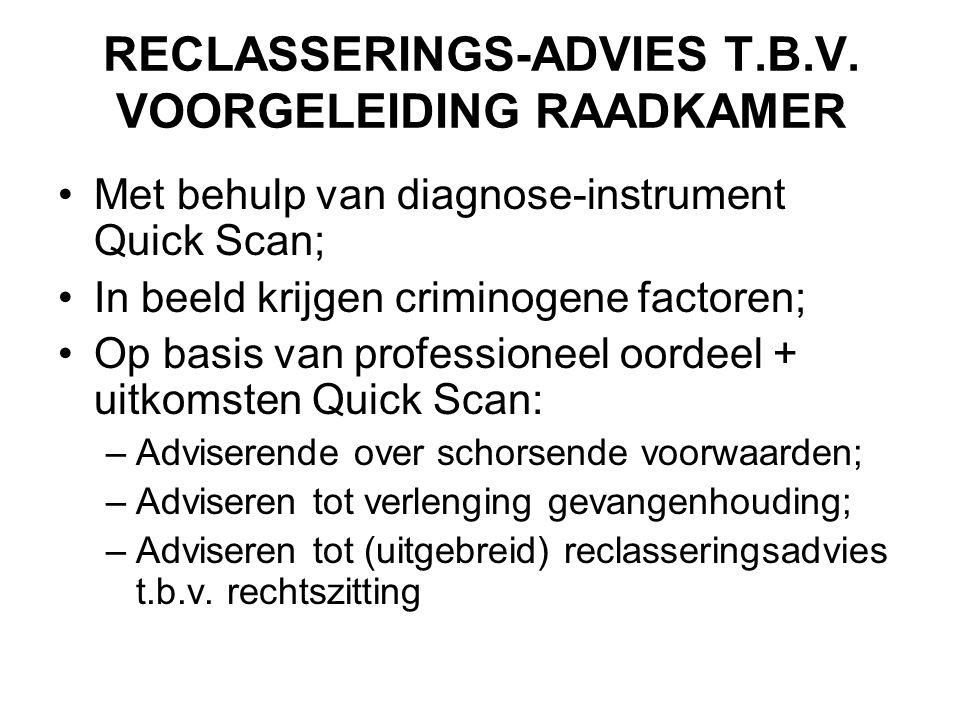 RECLASSERINGS-ADVIES T.B.V. VOORGELEIDING RAADKAMER