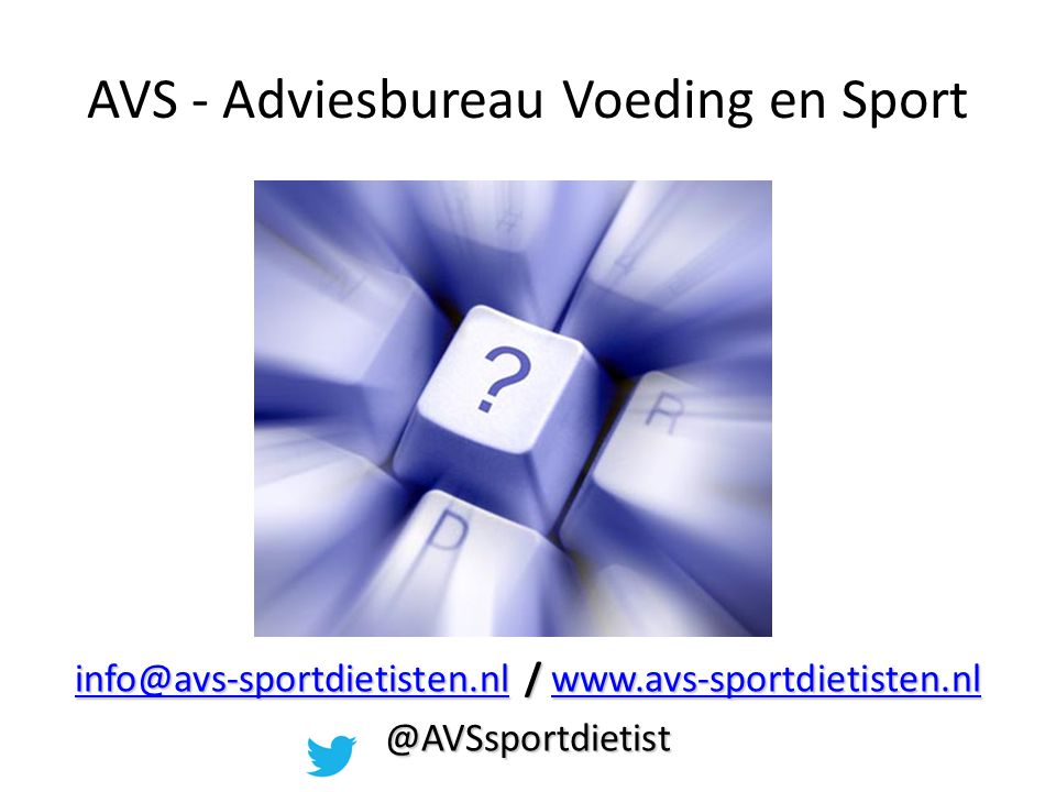 AVS - Adviesbureau Voeding en Sport