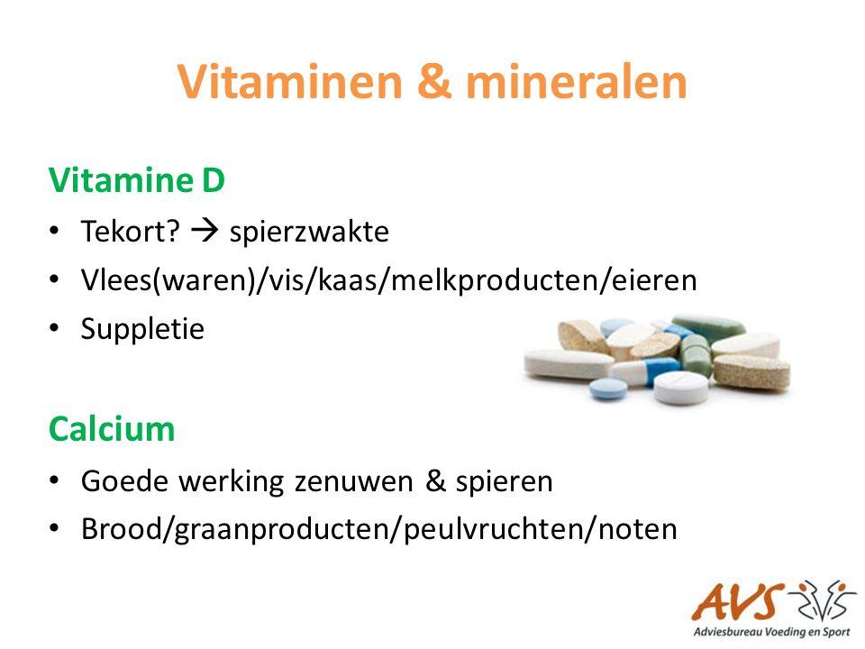 Vitaminen & mineralen Vitamine D Calcium Tekort  spierzwakte