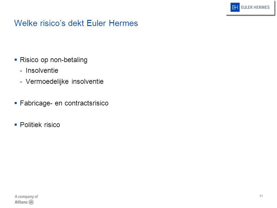Welke risico's dekt Euler Hermes