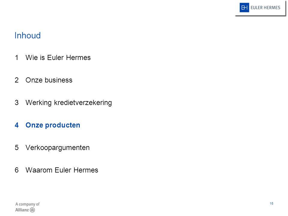 Inhoud Wie is Euler Hermes Onze business Werking kredietverzekering