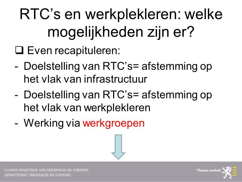 RTC's en werkplekleren: welke mogelijkheden zijn er