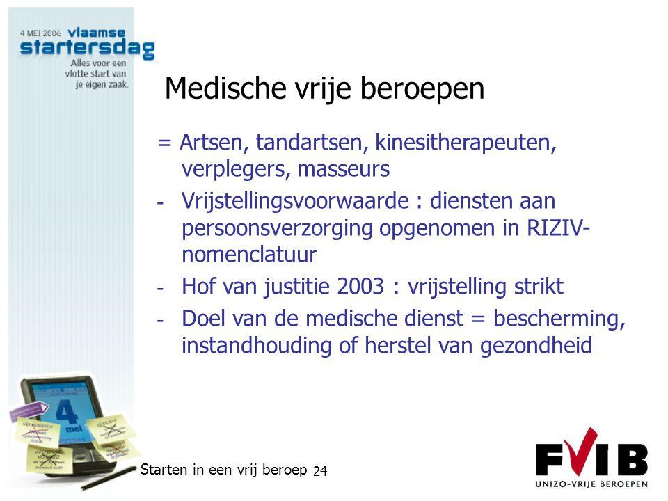 Medische vrije beroepen