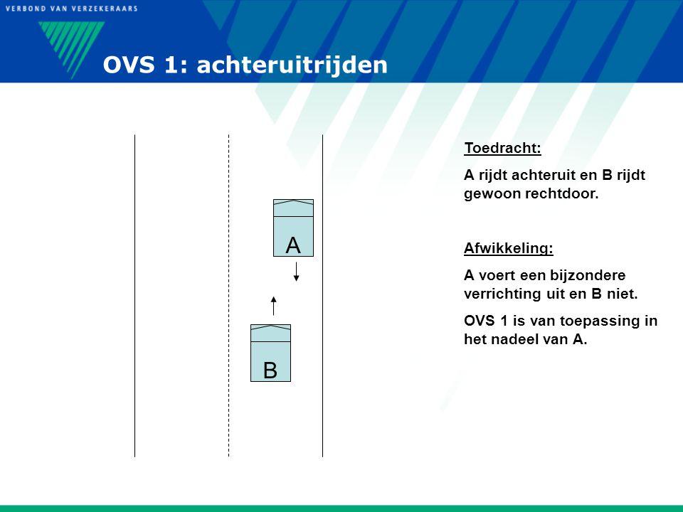 OVS 1: achteruitrijden A B Toedracht:
