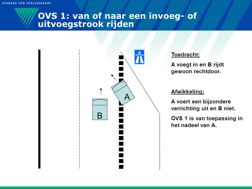 OVS 1: van of naar een invoeg- of uitvoegstrook rijden