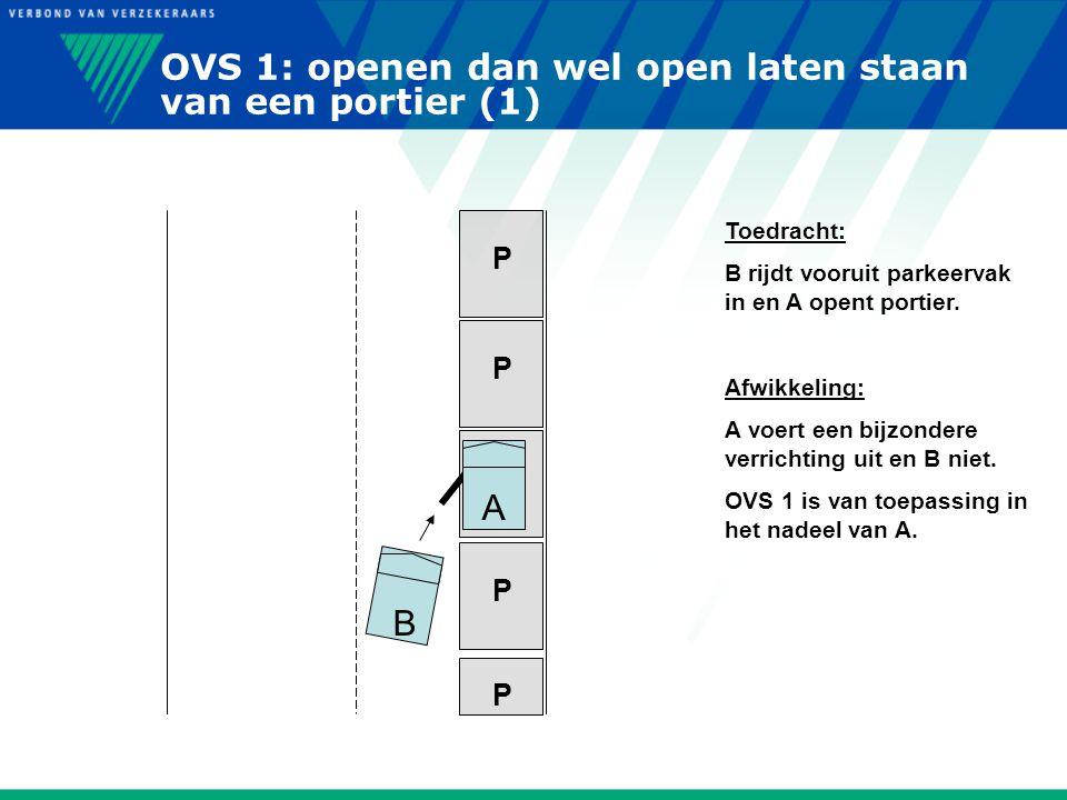 OVS 1: openen dan wel open laten staan van een portier (1)