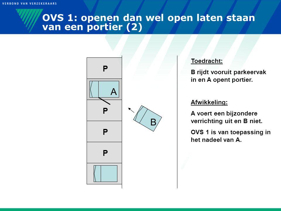 OVS 1: openen dan wel open laten staan van een portier (2)