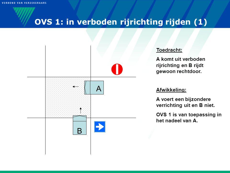 OVS 1: in verboden rijrichting rijden (1)