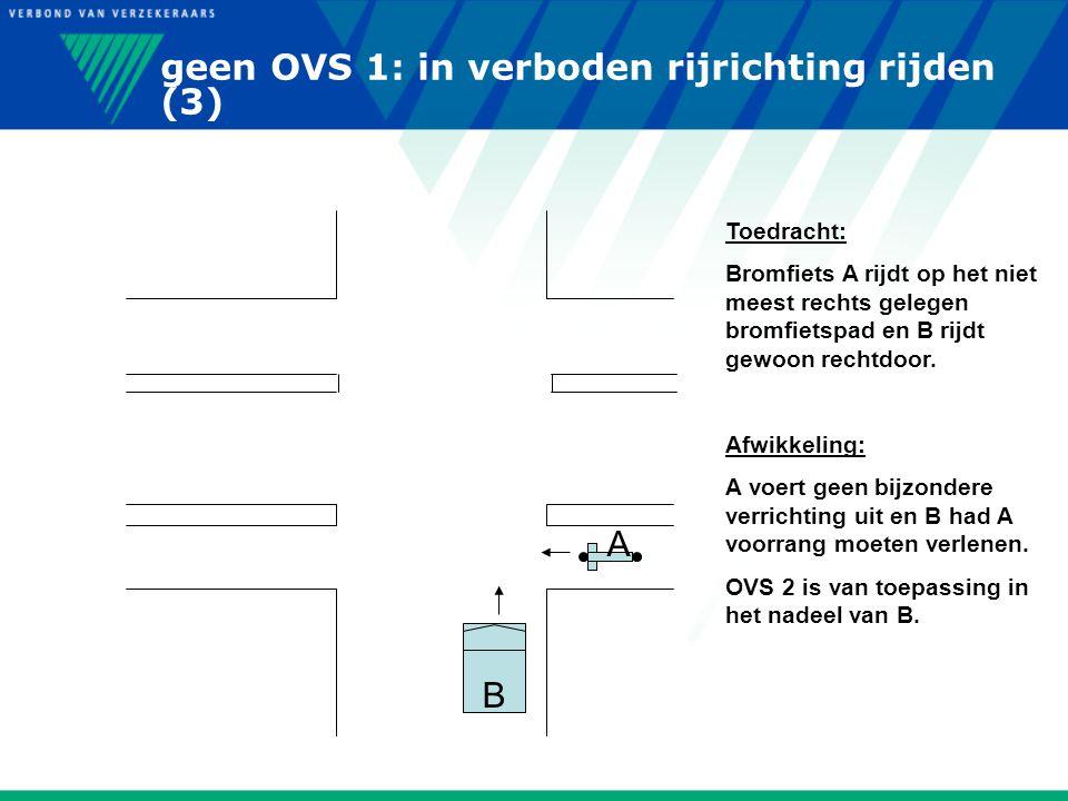 geen OVS 1: in verboden rijrichting rijden (3)
