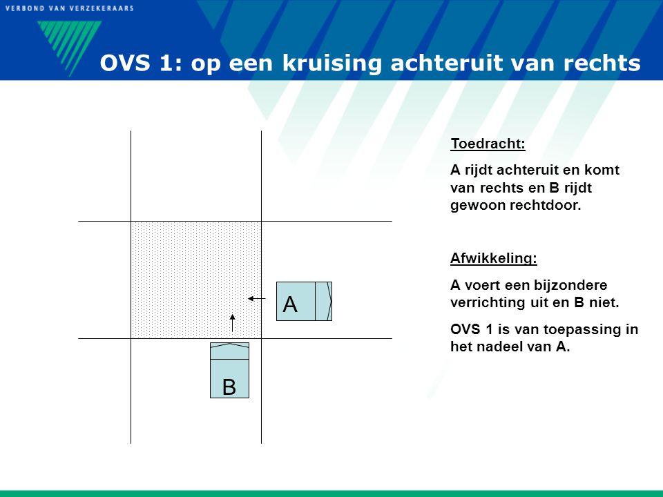 OVS 1: op een kruising achteruit van rechts