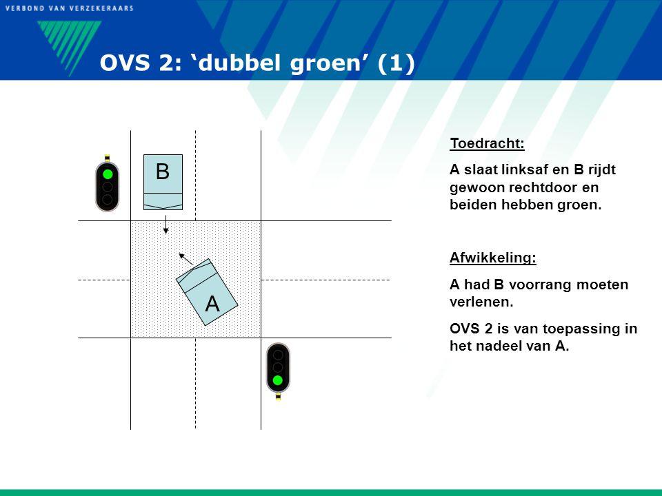OVS 2: 'dubbel groen' (1) B A Toedracht: