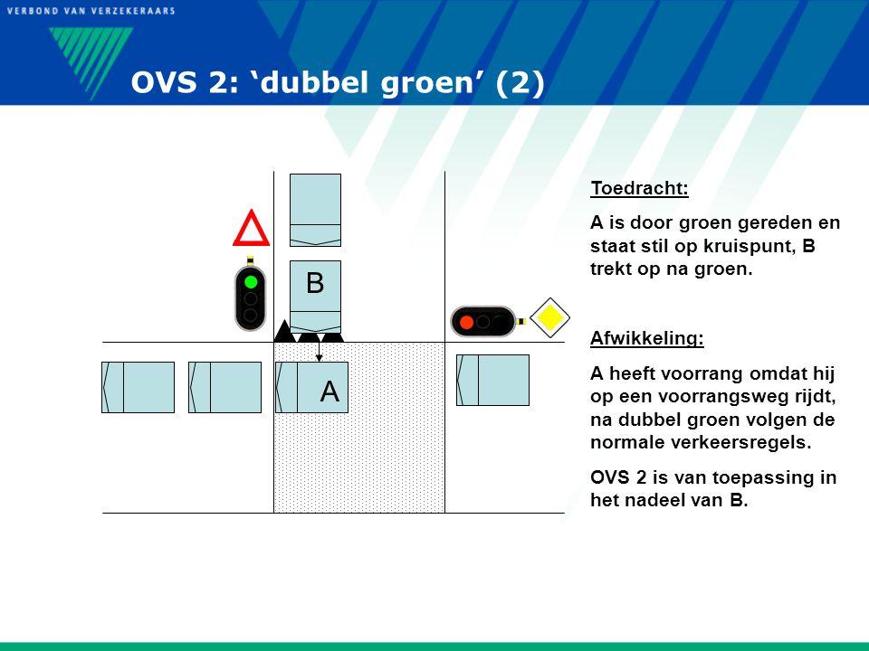 OVS 2: 'dubbel groen' (2) B A Toedracht: