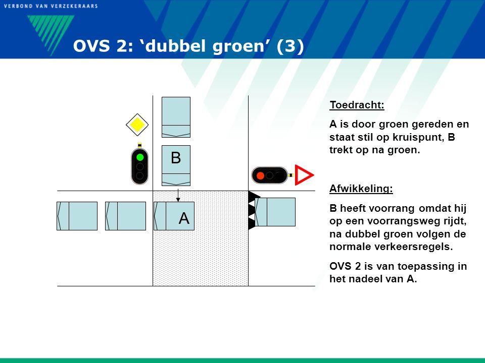 OVS 2: 'dubbel groen' (3) B A Toedracht: