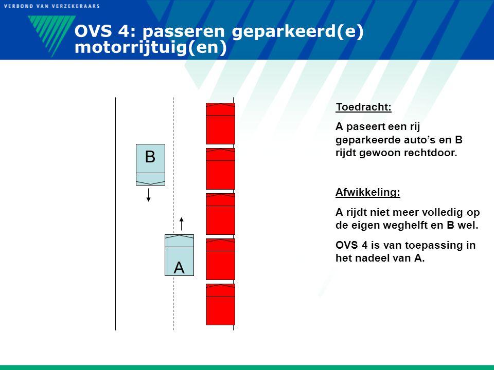 OVS 4: passeren geparkeerd(e) motorrijtuig(en)