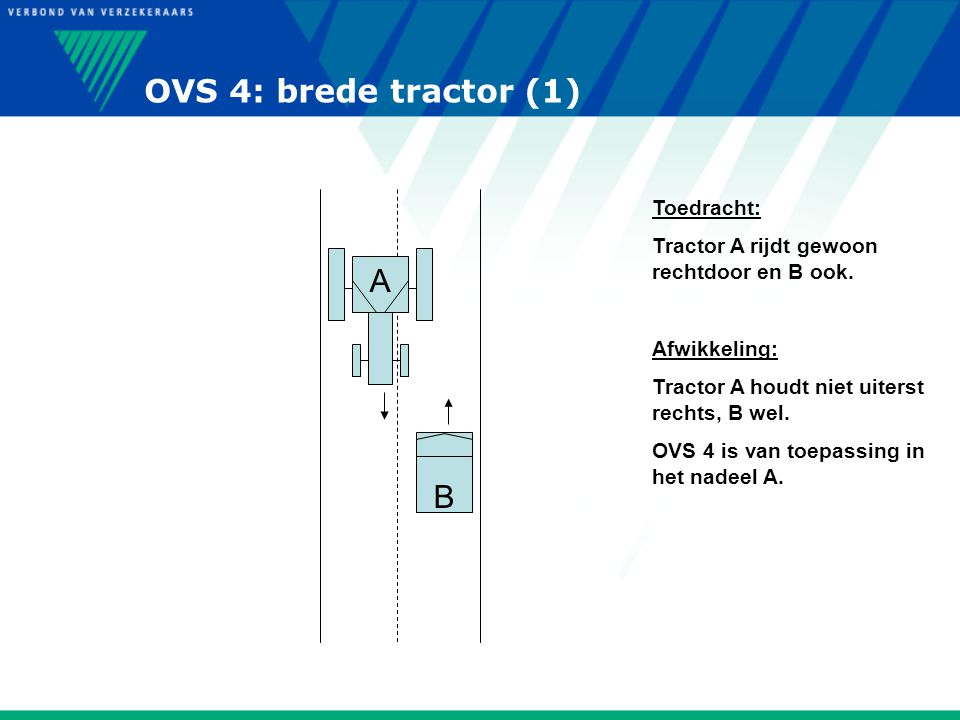 OVS 4: brede tractor (1) A B Toedracht: