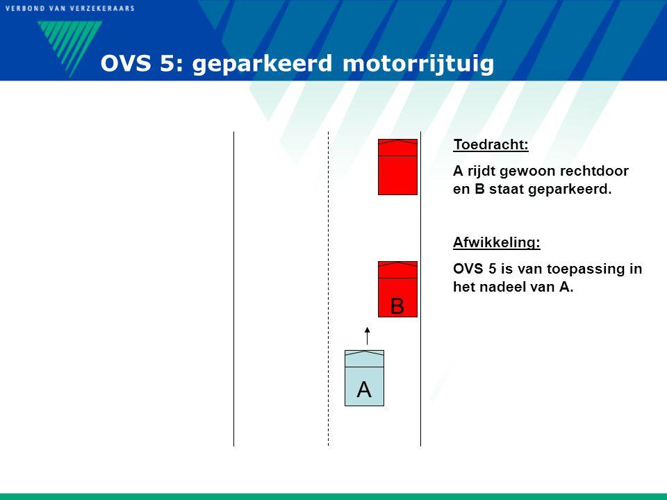 OVS 5: geparkeerd motorrijtuig
