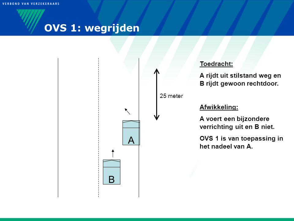 OVS 1: wegrijden A B Toedracht: