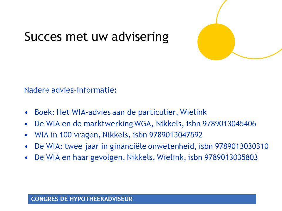 Succes met uw advisering