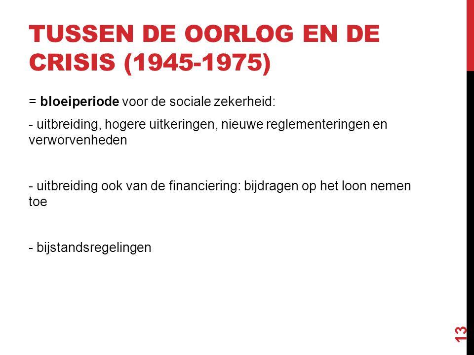 SOCIALE ZEKERHEID IN TIJDEN VAN CRISIS (1975-NU)