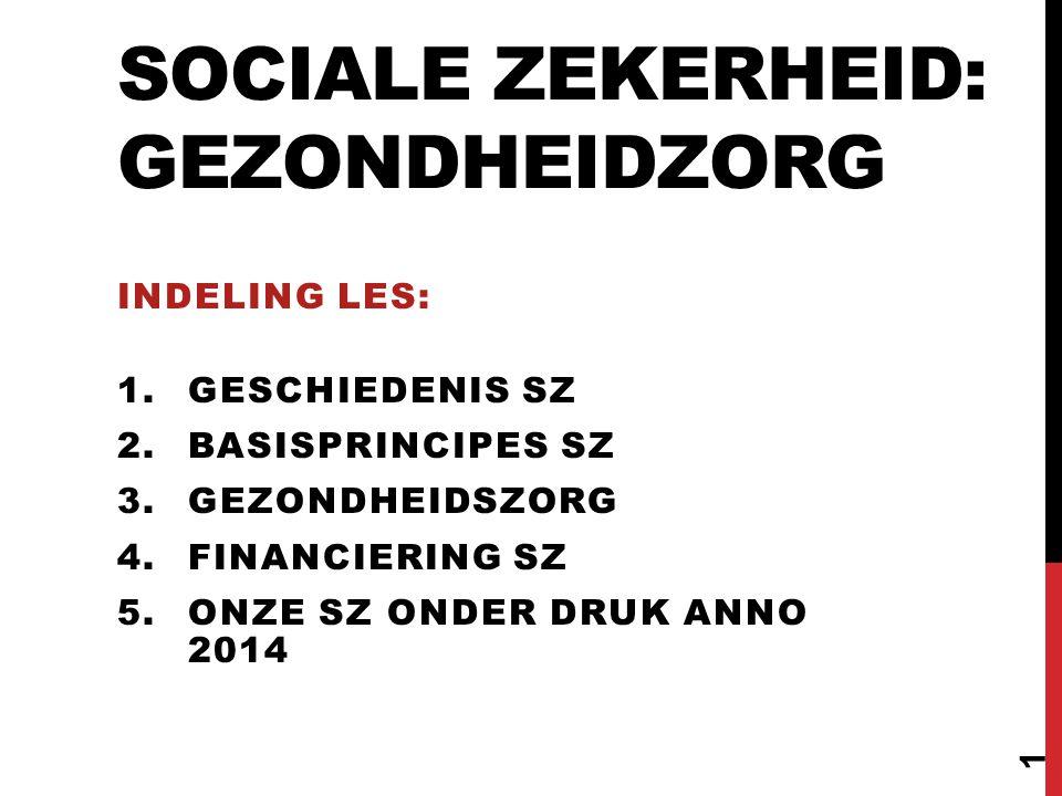 GESCHIEDENIS SOCIALE ZEKERHEID