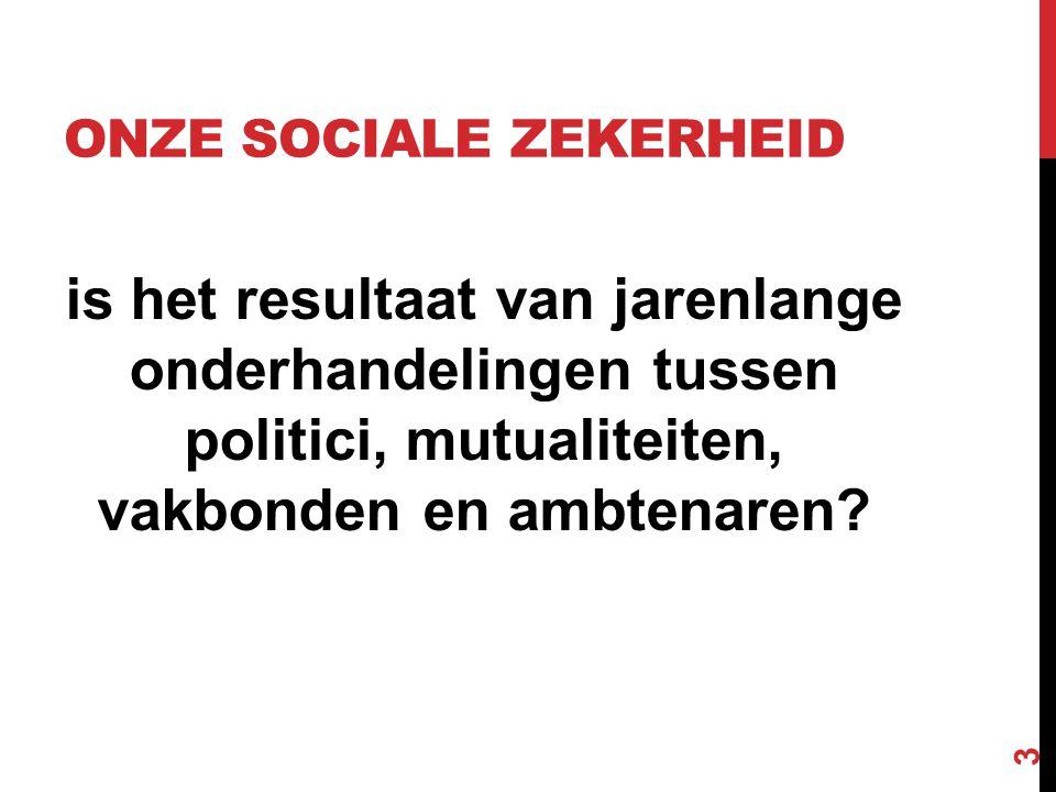 19E EEUW Industriële revolutie: 'oude' sociale zekerheid verdwijnt  geen werk = geen inkomen = geen zekerheid.