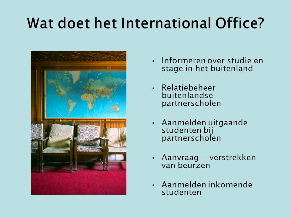 Wat doet het International Office