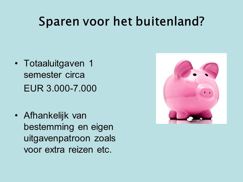Sparen voor het buitenland