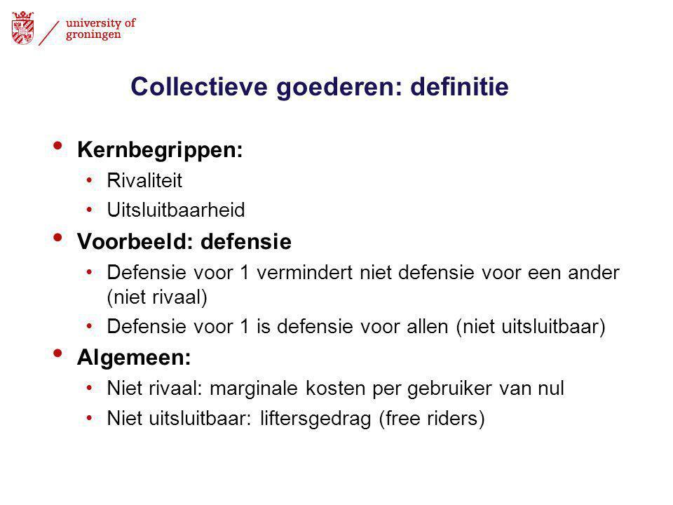 Collectieve goederen: definitie