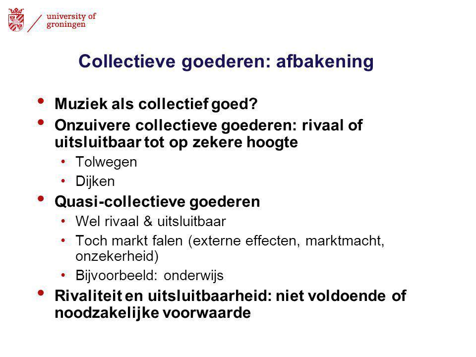 Collectieve goederen: afbakening