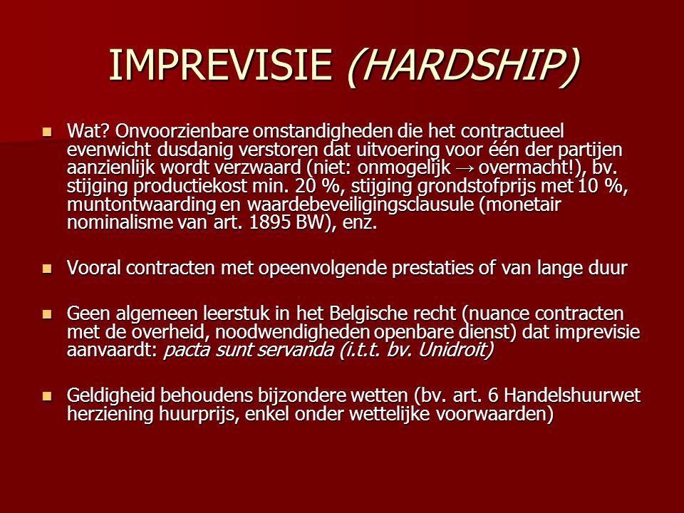 IMPREVISIE (HARDSHIP)