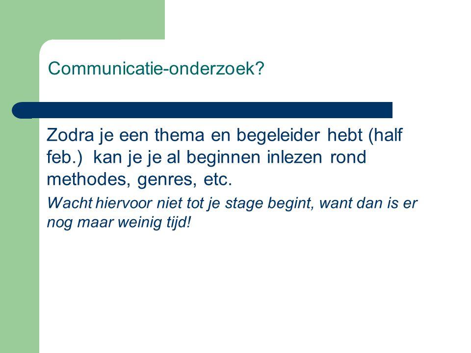 Communicatie-onderzoek