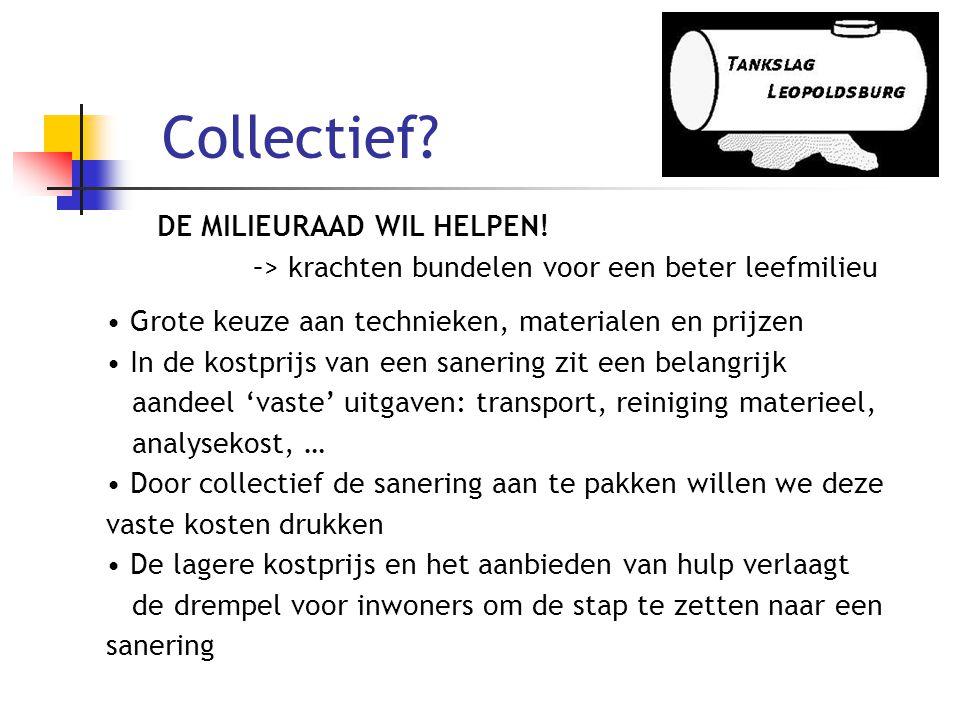 Collectief DE MILIEURAAD WIL HELPEN!