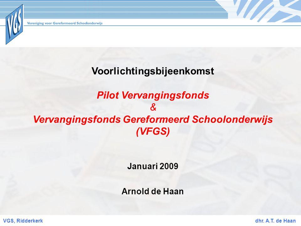 Voorlichtingsbijeenkomst Vervangingsfonds Gereformeerd Schoolonderwijs