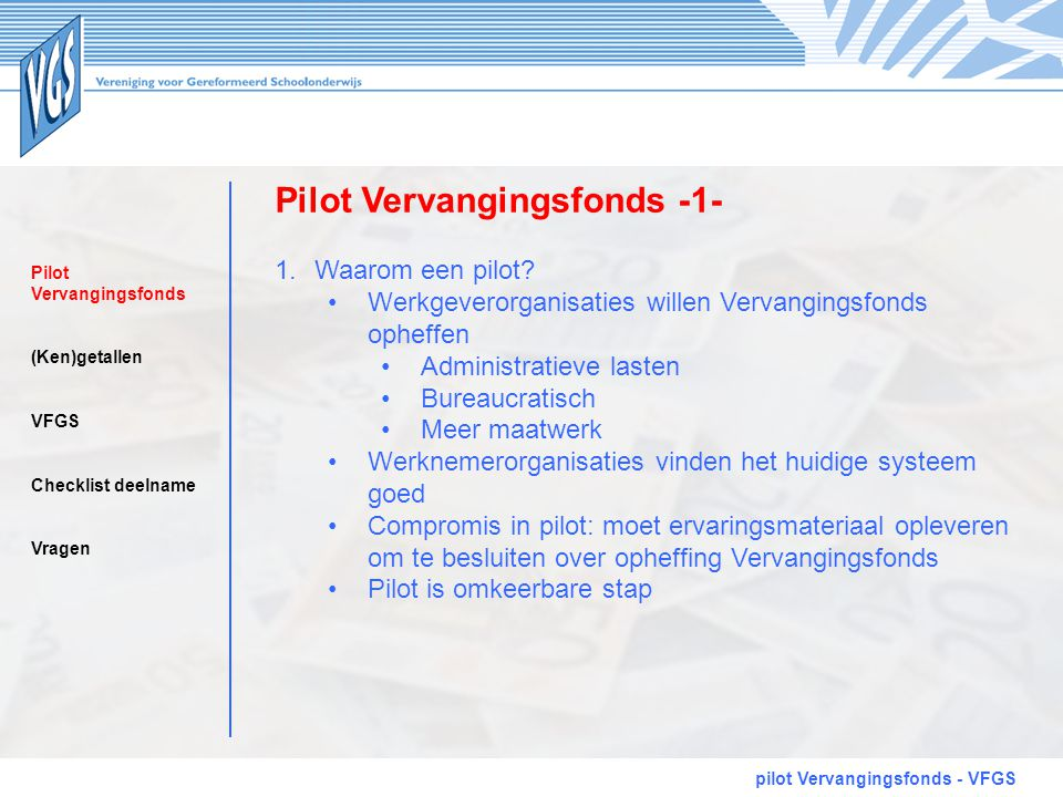 Pilot Vervangingsfonds -1-