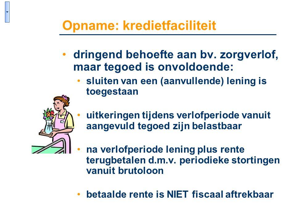 Opname: kredietfaciliteit