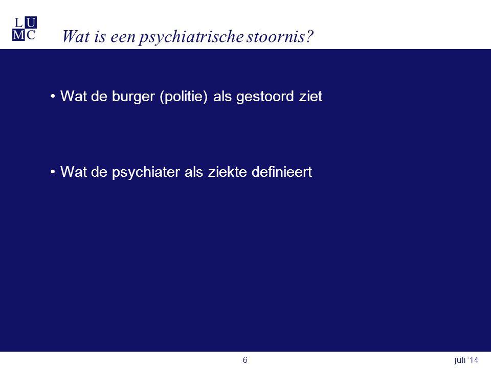 Wat is een psychiatrische stoornis