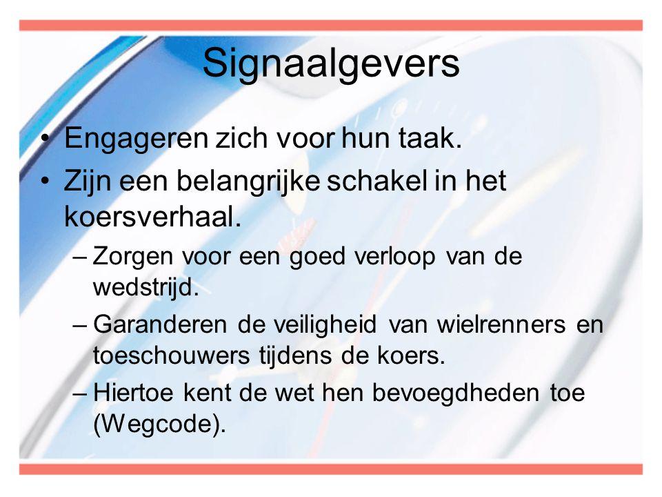 Signaalgevers Engageren zich voor hun taak.
